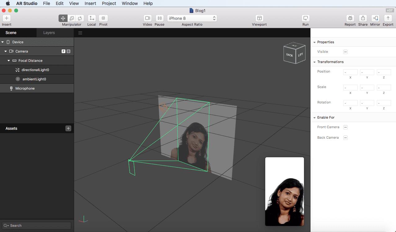 AR Studio画面